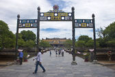 Tourists in Citadel, Hue — Stock Photo