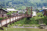 Foot bridge near Sapa — Stock Photo