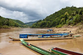Boats in Laos — Stock Photo