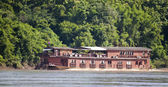Houseboat on Mekong — Stock Photo