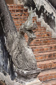 Detail of an entrance to Haw Pha Kaew temple — Stock fotografie