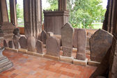 Stelae at Haw Pha Kaew temple — Stock Photo