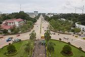 Lane xang avenue i vientianne — Stockfoto