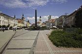 Town square in Banska Bystrica, Slovakia — Stock Photo