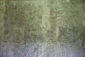 древние рисунки на стенах храма ангкор-ват — Стоковое фото