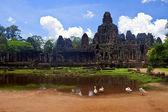 Ruins of ancient Angkor temple Bayon — Stock Photo