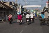 Road Traffic in Chau Doc — Stock Photo