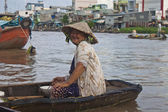 Cai Rang Floating Market — Stock Photo