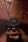 Interior of chinese Ong Temple in Can Tho — Foto de Stock
