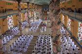 Religious ceremony in Cao Dai Temple — Stock Photo
