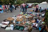 View of flea market in Bonn — Stock Photo