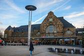 Main railway station in Aachen — 图库照片
