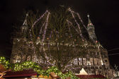 Town hall and Christmas decoration in Aachen — Stock Photo