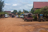 bus station in Pakse — Stock Photo