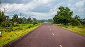 Main road in southern Laos — Stock Photo