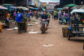 View of a market in Pakse — Stock Photo