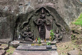Shiva, Vishnu and Brahma statue — Stockfoto