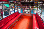 Interior of a local mean of transport (passenger truck) — Stock Photo
