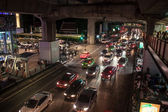 Traffic jam on Siam square  — Stock Photo