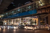 Traffic jam on Siam square in Bangkok — Stock Photo