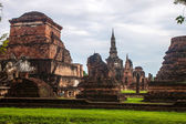 Wat Mahathat temple ruin in Sukhothai — Стоковое фото