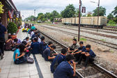 People waiting for a train  — Stock Photo
