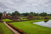 Wat Mahathat temple ruin in Sukhothai  — Foto de Stock
