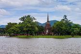 Wat Sa Si temple ruin — Foto Stock