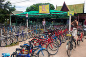 Bicycle rental in Sukhotai Historical Park — Stock Photo