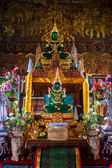 Buddha images at Wat Bupharam temple — Стоковое фото