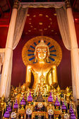 Buddha image in Wat Phra Singh temple — Stock Photo