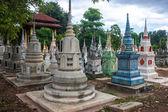 Cementerio en kanchanaburi — Foto de Stock