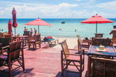 Beach restaurant at Ko Tao — Foto Stock