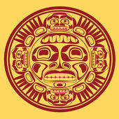 Vector sun symbol, the stylization of native Canadian art — Stock Vector