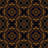 Vector seamless pattern with gold lines — Stockvektor