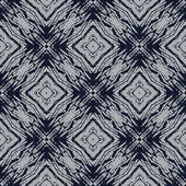 Navy blue and grey line geometric seamless pattern — Stok Vektör