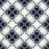 Blue circles, geometric vector seamless pattern — Stock Vector