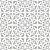 Lace on grey, simple vector geometrical pattern — Stock Vector