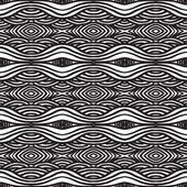 Geometrical bold pattern in black and white — Stock Vector