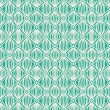 Stock Vector: Linear green tribal seamless pattern