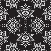 Hand drawn moroccan seamless fabric vector design — Stock Vector