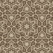 Beige moroccan ornament in vector - Stock Vector
