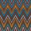 Colorful zig-zag pattern, seamless vector — Stock Vector