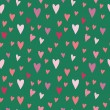 Stock Vector: Seamless vector pattern with hearts for valentines day