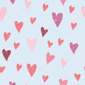 Seamless vector pattern with hearts for valentines day — Stock Vector
