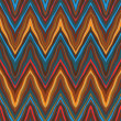 Vector zigzag vintage seamless pattern - Stock Vector