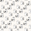 Vector seamless pattern with striped cats. — Stock Vector #19311031