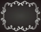 Ornamental frame on chalkboard — Stock Vector