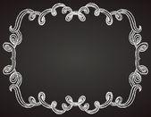 Ornamental frame on chalkboard — Stock Vector