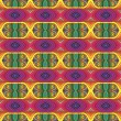 70s vector psychedelic pattern with stripes - Stockvektor